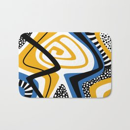 Blue & Yellow Craze Bath Mat