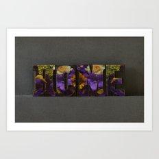 Floral HOME Art Print