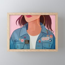 Jean Jacket Framed Mini Art Print