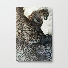 Animaline- Cheetahs Metal Print
