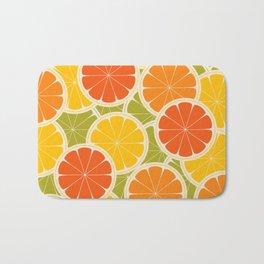 Orange, lemon and grapefruit Bath Mat