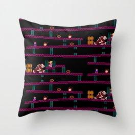 Donkey Kong Retro Arcade Gaming Design Throw Pillow