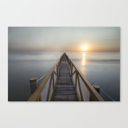 A dawn in Zadina (Cesenatico) Canvas Print