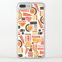 Painted Geo Abstract 002 Clear iPhone Case