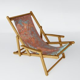 Tarnished Metal Copper Texture - Natural Marbling Industrial Art Sling Chair