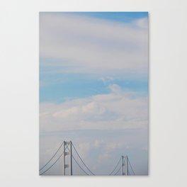 A bridge in the sky Canvas Print