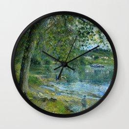 """Camille Pissarro """"Bords de l'Oise à Auvers-sur-Oise""""(""""Banks of the Oise at Auvers-sur-Oise"""") Wall Clock"""