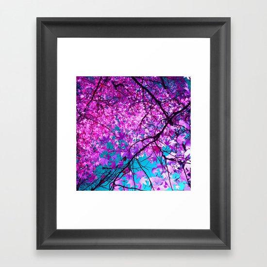 violet tree IV Framed Art Print