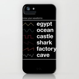Know your Waveforms iPhone Case