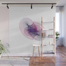 White Purple Blue minimal harmonic geometry nebula psychedelic Wall Mural