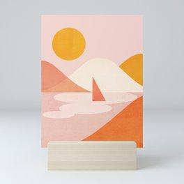 Abstraction_Lake_Sunset_Minimalism_001 Mini Art Print