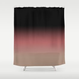 Ombre Black, Dusty Cedar, and Warm Taupe FALL 2016 PANTONE COLORS Shower Curtain