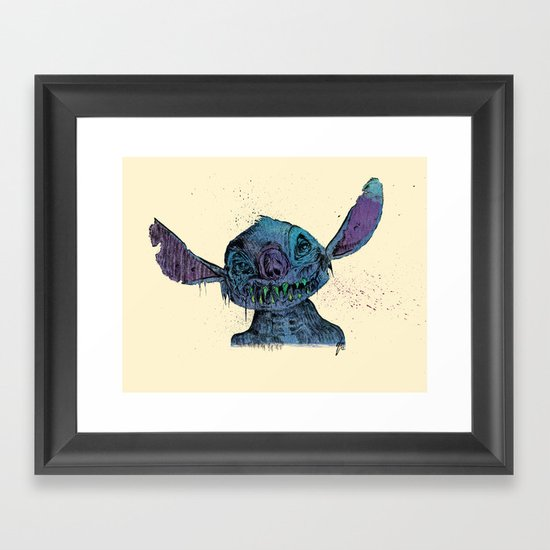 Zombie Stitch Framed Art Print