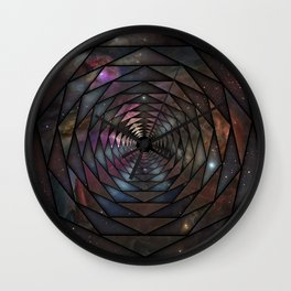 Heptagon space portal Wall Clock