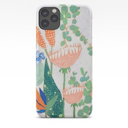 Proteas and Birds of Paradise Painting iPhone Case