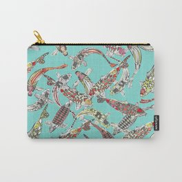 lucky koi blue Carry-All Pouch