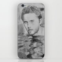 jared leto iPhone & iPod Skins featuring Jared Leto on water  by Jenn