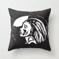 cry to the moon Throw Pillow