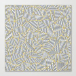 Ab Outline Gold and Grey Canvas Print