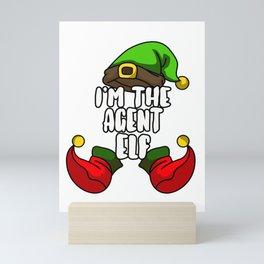 Agent Elf Matching Family Group Christmas Gift Mini Art Print