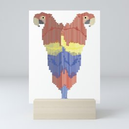 Double Scarlet Macaw Mini Art Print