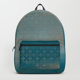ABUR with Gold on Turquoise Backpack