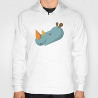 rhino Hoodies featuring Rhino by Mr. Peruca