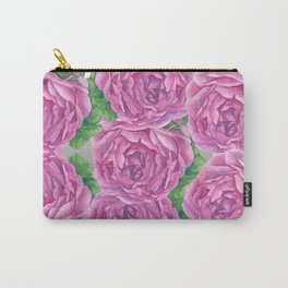 Rose Blooms Watercolor Carry-All Pouch