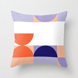 Minimal Bauhaus Semi Circle Geometric Pattern 1 - #bauhaus #minimalist Throw Pillow
