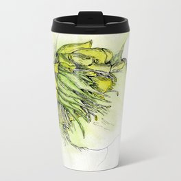 Watercolor Helleborus Metal Travel Mug