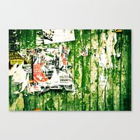 posters Canvas Prints featuring posters 2 by Renee Ansell