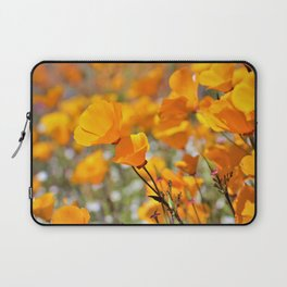 California Gold Poppies by Reay of Light Photography Laptop Sleeve