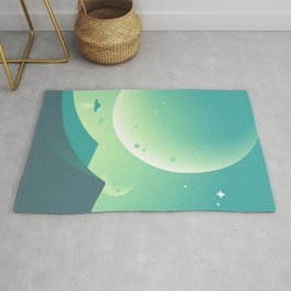 Ufo in the planet Rug