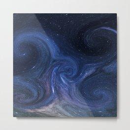 Space Waves Metal Print