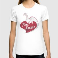 kansas T-shirts featuring Flat Kansas by Snorting Pixels