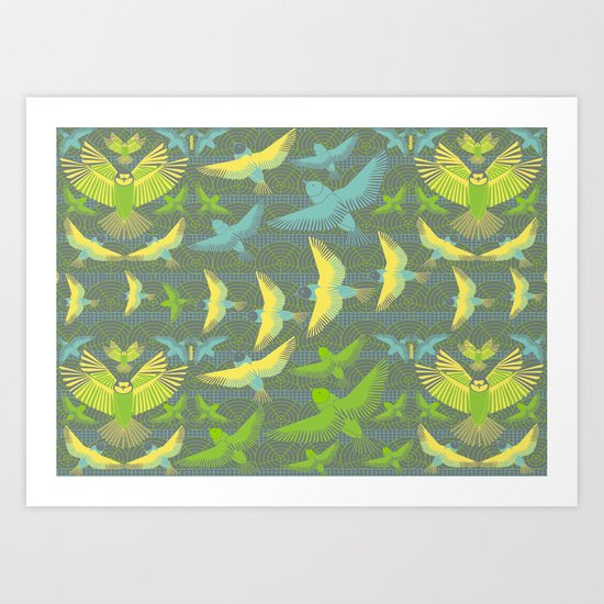 Bird flight Art Print
