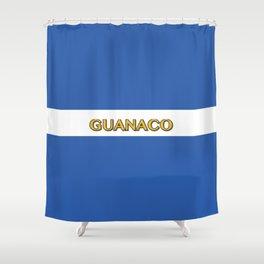 Guanaco - El Salvador Flag Shower Curtain