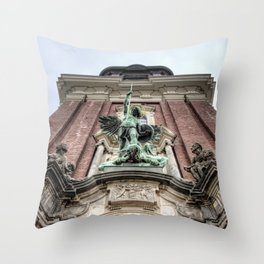 Victory Over the Devil Throw Pillow
