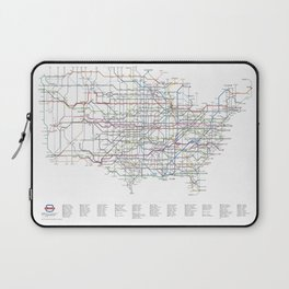 U.S. Numbered Highways as a Subway Map Laptop Sleeve