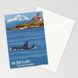 Vintage Poster - San Juan Islands National Monument, Washington (2015) Stationery Cards