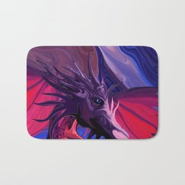 Jewel Toned Dragon of the Amethyst and Ruby Caverns Bath Mat