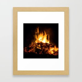 Fire flames Framed Art Print