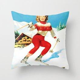 PIN UP GIRL by Gil Elvgren Throw Pillow