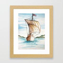 Tall Ship Framed Art Print