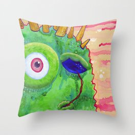 Sometimes I like to Suck my Eyeball when I Think... Throw Pillow