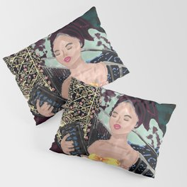 Lady with a view Pillow Sham