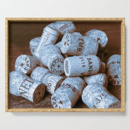 BLUE CHAMPAGNE CORK Serving Tray