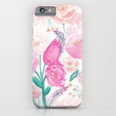 Garden Floral Watercolor Print Slim Case iPhone 6s
