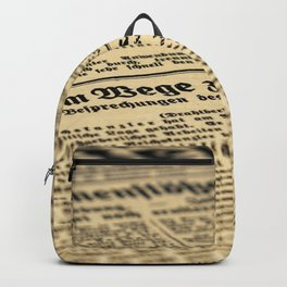 Newspaper Backpack