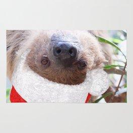 Cute Christmas Sloth Rug